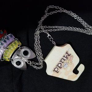 Muddy Owl Necklace Pendant